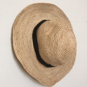 J. Crew Wide-Brim Packable Straw Hat Small/Medium